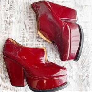 Jeffrey Campbell patent platform heels sz 9M
